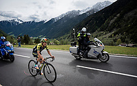 After having dealt with the effects of Epstein-Bahr virus for the past year, Esteban Chaves (COL/Mitchelton-Scott) resurfaces in  the upper cycling echelons with a strong 2nd place finish<br /> <br /> Stage 17: Commezzadura (Val di Sole) to Anterselva/Antholz (181km)<br /> 102nd Giro d'Italia 2019<br /> <br /> ©kramon