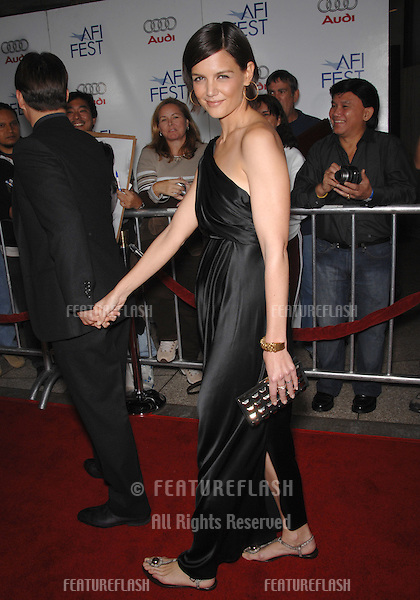"Katie Holmes at the AFI Fest 2007 opening night gala presentation of ""Lions for Lambs"" at the Cinerama Dome, Hollywood..November 2, 2007  Los Angeles, CA.Picture: Paul Smith / Featureflash"
