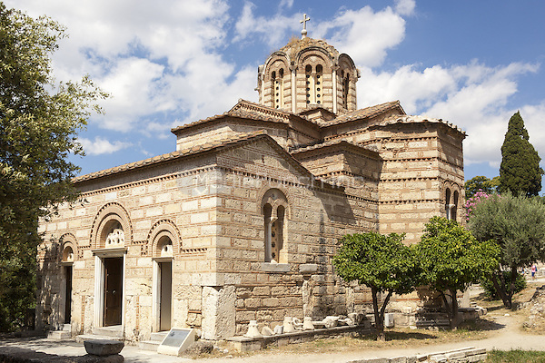 Church of the Holy Apostles, also known as Holy Apostles of Solaki, Ancient Agora of Athens, Athens, Greece <br /> CAP/MEL<br /> &copy;MEL/Capital Pictures /MediaPunch ***NORTH AND SOUTH AMERICA ONLY***