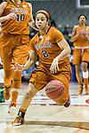 guard Celina Rodrigo (2) in action during Big 12 women's basketball championship final, Sunday, March 08, 2015 in Dallas, Tex. (Dan Wozniak/TFV Media via AP Images)