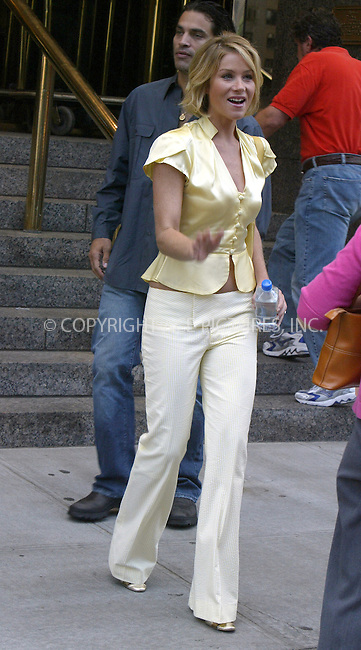 CHRISTINA APPLEGATE and husband  JONATHON SCHAECH spotted departing from Trump Hotel on Upper West Side. New York, July 10, 2004. Please byline: PHILIP VAUGHAN/ACEPIXS.COM   .. *** ***  ..Ace Pictures, Inc:  ..contact: Alecsey Boldeskul (646) 267-6913 ..Philip Vaughan (646) 769-0430..e-mail: info@acepixs.com