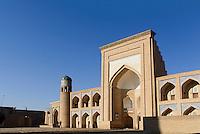 Muhammad Rahim Khan Medrese in der Altstadt Ichan Qala, Chiwa, Usbekistan, Asien, UNESCO-Weltkulturerbe<br /> Muhammad Rahim Khan madrassa in the  hitoric city Ichan Qala, Chiwa, Uzbekistan, Asia, UNESCO heritage site