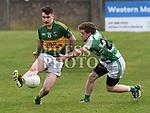 O'Raghallaigh's Thomas Callan Cooley Kickhams Michael Carron. Photo:Colin Bell/pressphotos.ie