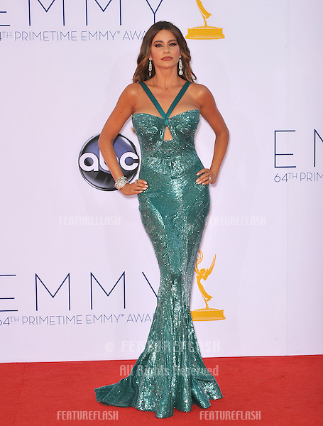 Sofia Vergara at the 64th Primetime Emmy Awards at the Nokia Theatre LA Live..September 23, 2012  Los Angeles, CA.Picture: Paul Smith / Featureflash