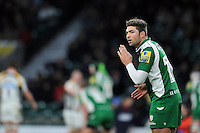 Tom Fowlie of London Irish has a word with his backline. Aviva Premiership match, between London Irish and Wasps on November 28, 2015 at Twickenham Stadium in London, England. Photo by: Patrick Khachfe / JMP