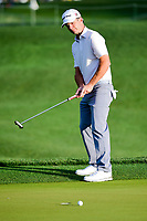 Kevin Streelman (USA) barely misses his putt on 1 during round 1 of the Shell Houston Open, Golf Club of Houston, Houston, Texas, USA. 3/30/2017.<br /> Picture: Golffile | Ken Murray<br /> <br /> <br /> All photo usage must carry mandatory copyright credit (&copy; Golffile | Ken Murray)