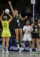 18.07.2007 Silver Ferns Casey Williams in action during the Silver Ferns v Australia Fisher and Paykel Netball Test Match at Vector Arena, Auckland. Mandatory Photo Credit ©Michael Bradley.
