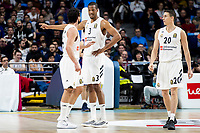 Sergio Llull, Anthony Randolph and Jaycee Carroll of Real Madrid during Turkish Airlines Euroleague match between Real Madrid and FC Barcelona Lassa at Wizink Center in Madrid, Spain. December 13, 2018. (ALTERPHOTOS/Borja B.Hojas) /NortePhoto.com