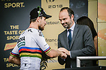 World Champion Peter Sagan (SVK) Bora-Hansgrohe wins Stage 13 his 3rd stage win of the 2018 Tour de France running 169.5km from Bourg d'Oisans to Valence, France. 20th July 2018. <br /> Picture: ASO/Pauline Ballet | Cyclefile<br /> All photos usage must carry mandatory copyright credit (© Cyclefile | ASO/Pauline Ballet)