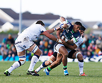 17th November 2019; The Sportsground, Galway, Connacht, Ireland; European Rugby Champions Cup, Connacht versus Montpellier; Bundee Aki brings the ball forward for Connacht - Editorial Use