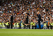 1st October 2017, Santiago Bernabeu, Madrid, Spain; La Liga football, Real Madrid versus Espanyol; Zinedine Zidane Coach of Real Madrid and Quique Sanchez Flores Coach of Espanyol