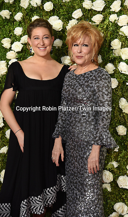Sophie von Haselberg and mom Better Midler attend the 71st Annual  Tony Awards on June 11, 2017 at Radio City Music Hall in New York, New York, USA.<br /> <br /> photo by Robin Platzer/Twin Images<br />  <br /> phone number 212-935-0770