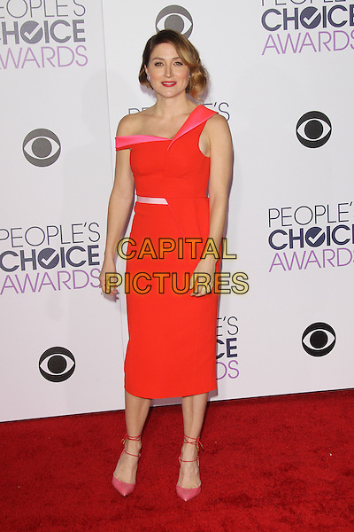 LOS ANGELES, CA - JANUARY 6: Sasha Alexander at The People's Choice Awards 2016 at the Microsoft Theater on January 6, 2016 in Los Angeles, California. <br /> CAP/MPI21<br /> &copy;MPI21/Capital Pictures