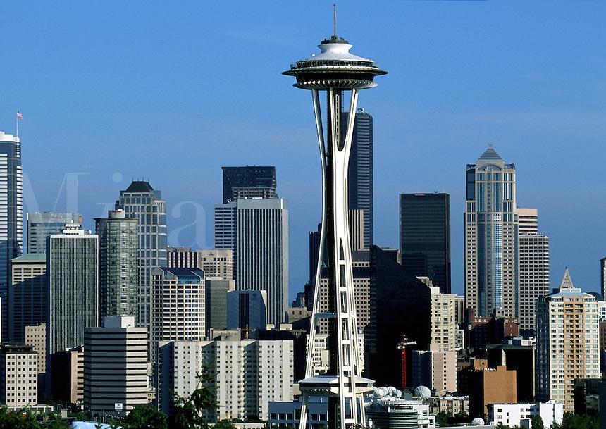 The Seattle skyline and Space Needle. Seattle, Washington.