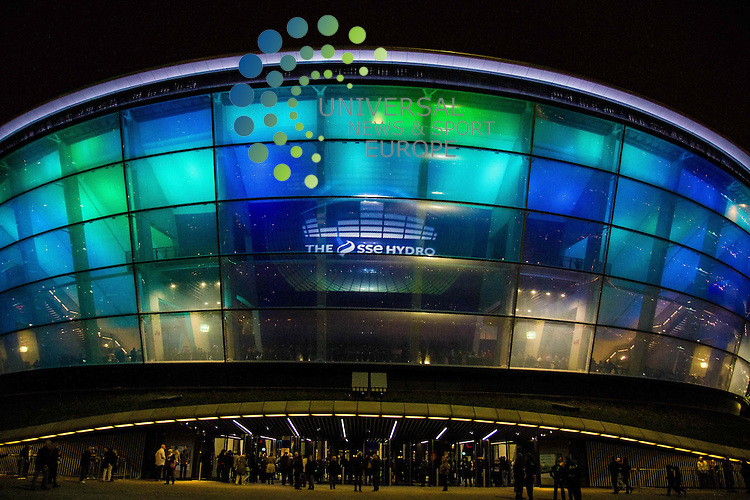 A further four cases of E Coli O157 believed to be connected to the Hydro concert venue in Glasgow have been identified. Health chiefs suspect the cases, which now number 11 in total, are linked to burgers sold at the popular venue. However, the involvement of other food products has not been excluded. They have identified January 17, 18 and 19 as the key dates and appealed to anyone who visited the Hydro between January 17 and January 25, and who is experiencing adverse health conditions, to contact their GP.<br /> Picture: Duncan McGlynn/Universal News And Sport (Scotland) 12/10/2013.