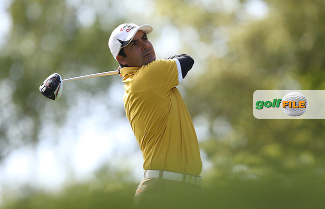 Felipe Aguilar (CHI)  during Round One of the 2015 BMW PGA Championship over the West Course at Wentworth, Virginia Water, London. Picture David Lloyd, www.golffile.ie: 21/05/2015
