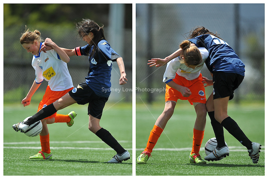 MELBOURNE, AUSTRALIA - OCTOBER 25: Round 2 of the Victorian Champions League between Central City FC and Gippsland Knights at Darebin International Sports Centre on October 25, 2009 in Melbourne, Australia. Photo Sydney Low www.syd-low.com