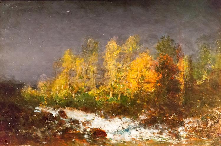 Torrent, surroundings Clermont-Ferrand by Felix Ziem (1821-1911)