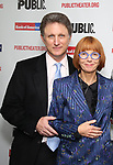 """Matthew Penn and Jane Anderson attends the Opening Night Celebration for """"Mother of the Maid"""" on October 18, 2018 at the Public Theatre in New York City."""