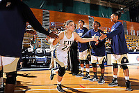 25 November 2011:  FIU guard Carmen Miloglav (24) is welcomed to the court prior to the game.  The University of Maryland Terrapins defeated the FIU Golden Panthers, 84-52, at the U.S. Century Bank Arena in Miami, Florida.