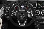 Car pictures of steering wheel view of a 2017 Mercedes Benz C-Class AMG-C43 2 Door Coupe Steering Wheel