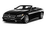 2019 Mercedes Benz S-Class S-560 2 Door Convertible Angular Front stock photos of front three quarter view