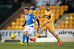 St Johnstone v Motherwell&hellip;17.12.16     McDiarmid Park    SPFL<br />Chris Millar and Scott McDonald<br />Picture by Graeme Hart.<br />Copyright Perthshire Picture Agency<br />Tel: 01738 623350  Mobile: 07990 594431