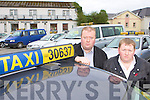 Taxi drivers Pat O'Brien and Alex Goggin who are happy with the new parking plan for Killarney Taxi's