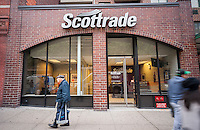 A Scottrade Financial Services  branch in New York on Monday, October 24, 2016. TD Ameritrade Holding will buy Scottrade Financial Services in a deal worth $4 billion. (© Richard B. Levine)