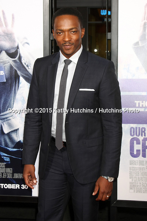 """LOS ANGELES - OCT 26:  Anthony Mackie at the """"Our Brand is Crisis"""" LA Premiere at the TCL Chinese Theater on October 26, 2015 in Los Angeles, CA"""