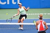Washington, DC - August 3, 2019: Anna Kalinskaya (RUS) awaits return from Jessica Pegula (USA) during the Citi Open WTA Singles Semi Finals at Rock Creek Tennis Center, in Washington D.C. (Photo by Philip Peters/Media Images International)