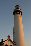 Pigeon Point lighthouse and moon