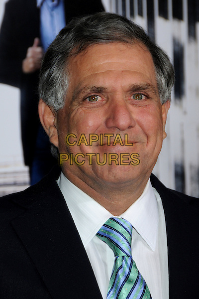 """LES MOONVES .""""Extraordinary Measures"""" Los Angeles Premiere held at Grauman's Chinese Theatre, Hollywood, California, USA, .19th January 2010..portrait headshot blue green striped tie white shirt.CAP/ADM/BP.©Byron Purvis/AdMedia/Capital Pictures."""