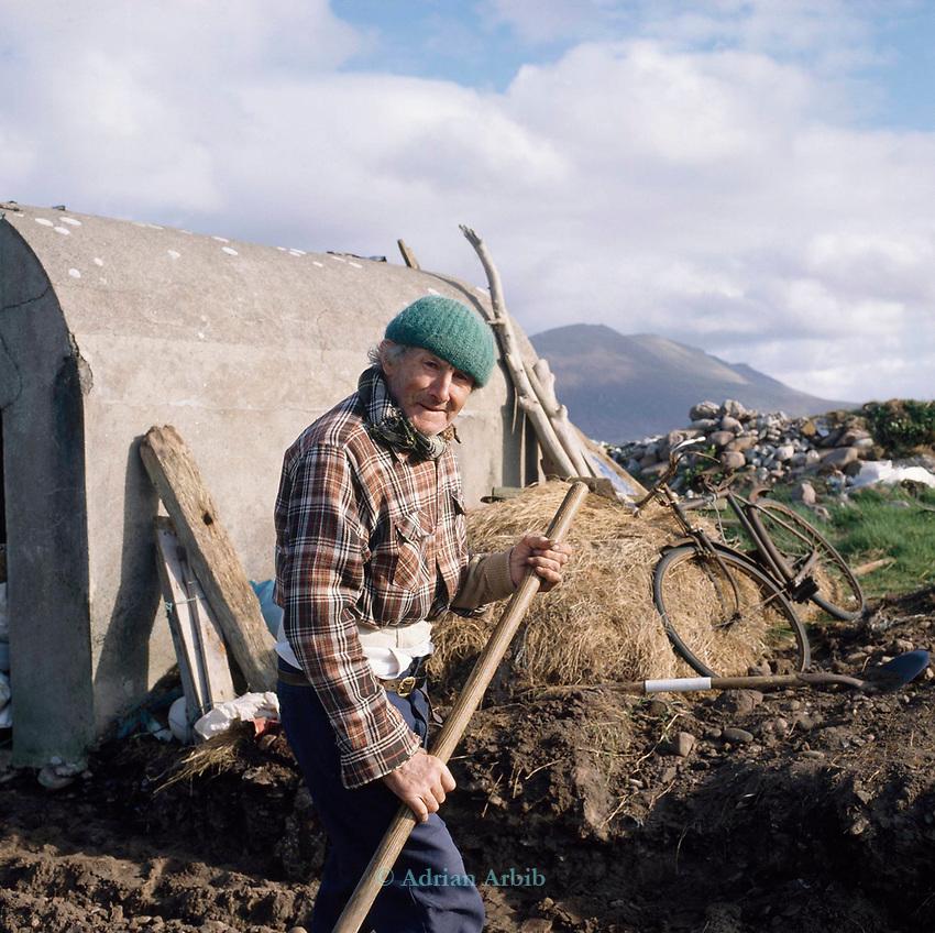 Small holder, farmer, Connemara, Ireland