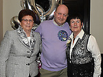 David Cluskey celebrating his 50th birthday in the Phesant with his mother Peggy Cluskey and mother inlaw Christina Maguire. Photo:Colin Bell/pressphotos.ie