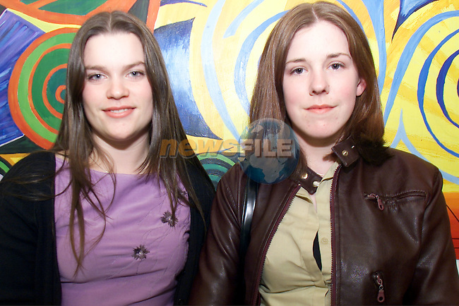 Neessa Kavanagh and Meabh Boyle pictured at the Ardee CC art exhibition at Bru na Boinne..Picture: Arthur Carron/Newsfile