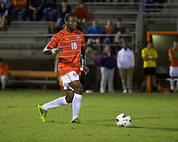 The number 24 ranked Furman Paladins took on the number 20 ranked Clemson Tigers in an inter-conference game at Clemson's Riggs Field.  Furman defeated Clemson 2-1.  Phanuel Kavita (18)
