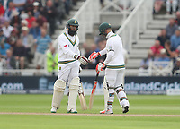 Heino Kuhn and Hashim Amla <br /> <br /> Photographer Rachel Holborn/CameraSport<br /> <br /> Investec Test Series 2017 - Second Test - England v South Africa - Day 1 - Friday 14th July 2017 - Trent Bridge - Nottingham<br /> <br /> World Copyright &copy; 2017 CameraSport. All rights reserved. 43 Linden Ave. Countesthorpe. Leicester. England. LE8 5PG - Tel: +44 (0) 116 277 4147 - admin@camerasport.com - www.camerasport.com