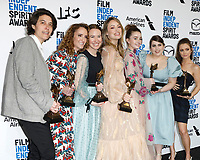 LOS ANGELES - FEB 8:  Chelsea Barnard, Susanna Fogel, Katie Silberman, Olivia Wilde, Kaitlyn Dever, Beanie Feldstein, Billie Lourd at the 2020 Film Independent Spirit Awards at the Beach on February 8, 2020 in Santa Monica, CA