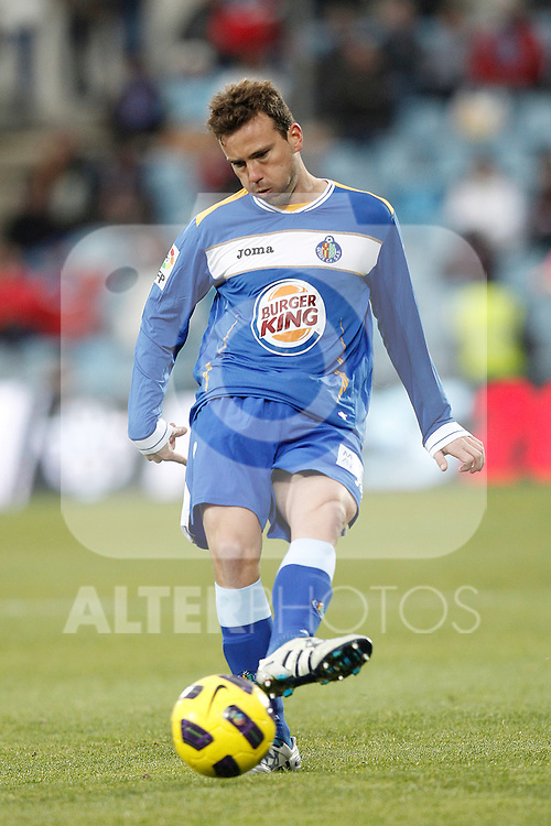 Getafe's Mane during la liga match on december 5th 2010...Photo: Cesar Cebolla / ALFAQUI