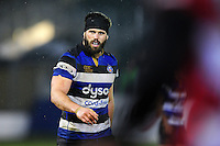 Guy Mercer of Bath Rugby looks on during a break in play. Anglo-Welsh Cup match, between Bath Rugby and Gloucester Rugby on January 27, 2017 at the Recreation Ground in Bath, England. Photo by: Patrick Khachfe / Onside Images