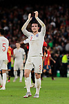 England's Ben Chilwell celebrates the victory during UEFA Nations League 2019 match between Spain and England at Benito Villamarin stadium in Sevilla, Spain. October 15, 2018. (ALTERPHOTOS/A. Perez Meca)