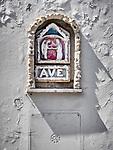 Ave, small wall shrine, Vinci, Tuscano, Italy
