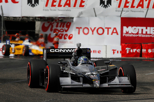 15-17 April, 2011, Long Beach, California, USA<br /> Mike Conway leads Ryan Briscoe<br /> ©2011, Michael L. Levitt<br /> LAT Photo USA