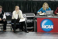 15 December 2007: Stanford Cardinal head coach John Dunning during Stanford's 25-30, 26-30, 30-23, 30-19, 8-15 loss against the Penn State Nittany Lions in the 2007 NCAA Division I Women's Volleyball Final Four championship match at ARCO Arena in Sacramento, CA.