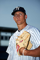 Tampa Yankees pitcher James Kaprielian (18) poses for a photo before a game against the Bradenton Marauders on April 12, 2016 at George M. Steinbrenner Field in Tampa, Florida.  Tampa defeated Bradenton 9-3.  (Mike Janes/Four Seam Images)