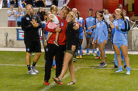 Chicago, IL - Saturday July 30, 2016: Rory Dames, Lori Chalupny after a regular season National Women's Soccer League (NWSL) match between the Chicago Red Stars and FC Kansas City at Toyota Park.