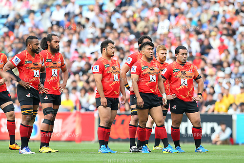 Sunwolves team group, <br /> APRIL 23, 2016 - Rugby : <br /> Super Rugby match between Sunwolves 36-28 Jaguares <br /> at Prince Chichibu Memorial Stadium in Tokyo, Japan. <br /> (Photo by Yohei Osada/AFLO SPORT)