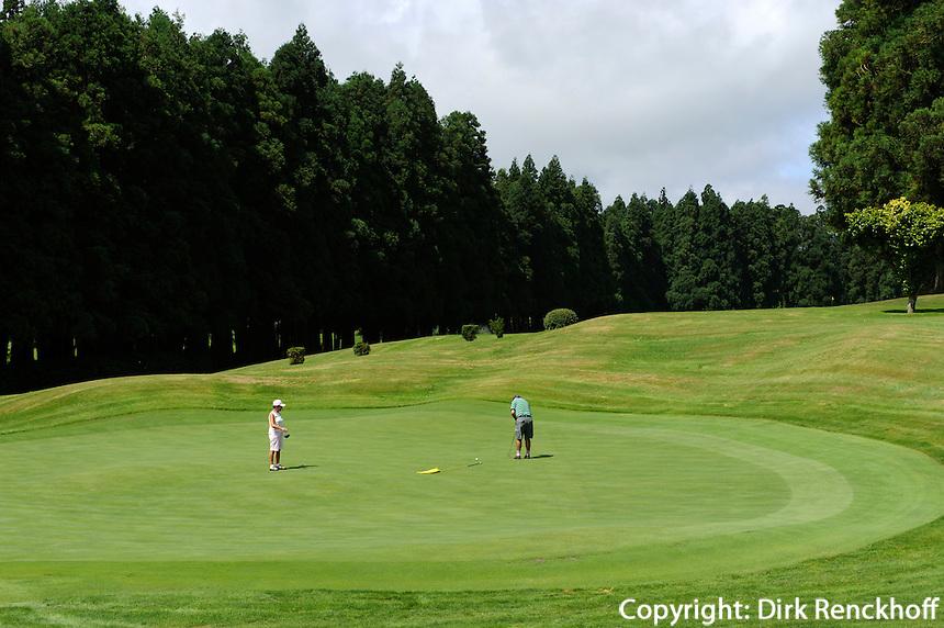 Golfplatz bei Furnas auf der Insel Sao Miguel, Azoren, Portugal