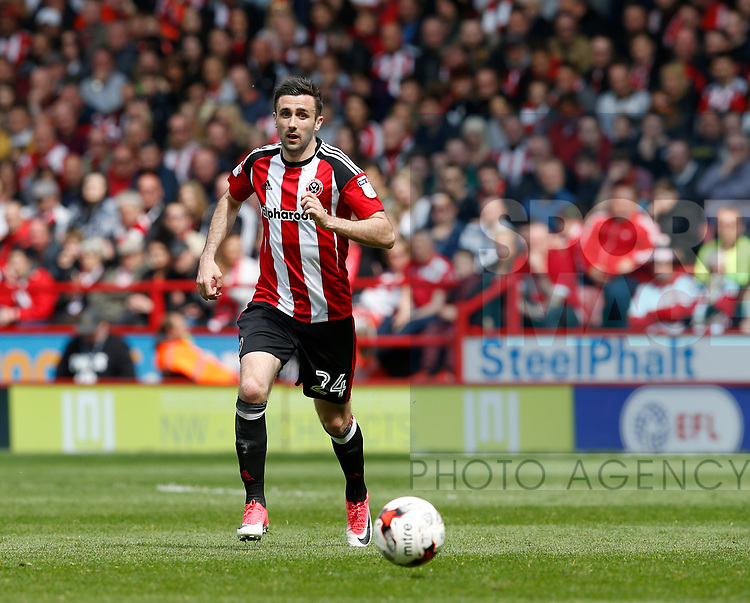 Danny Lafferty of Sheffield Utd in a action during the English League One match at  Bramall Lane Stadium, Sheffield. Picture date: April 30th 2017. Pic credit should read: Simon Bellis/Sportimage